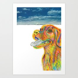 Puggle Power Art Print