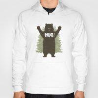 hug Hoodies featuring Bear Hug by powerpig