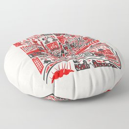 London Map Floor Pillow