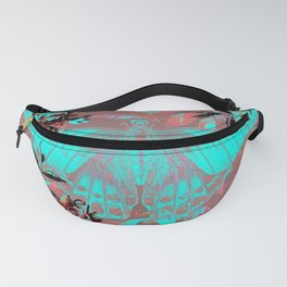 Turquoise and Mauve Fairy Moth Fanny Pack