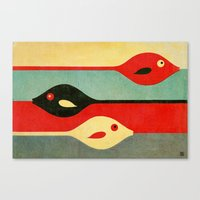 fish Canvas Prints featuring Three Fish in My Mind by Fernando Vieira