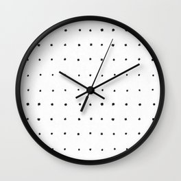 Dot Grid Black and White Wall Clock