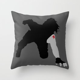 Winter Soldier Car Attack Throw Pillow