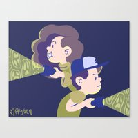 gravity falls Canvas Prints featuring Gravity Falls by Aysen Gerlach