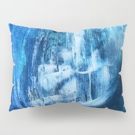 Cerulean [5]: a vibrant blue abstract with texture and layers Pillow Sham