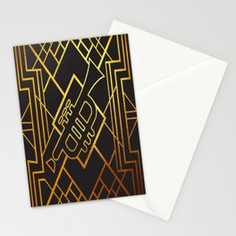 Art Deco Trumpet Stationery Cards