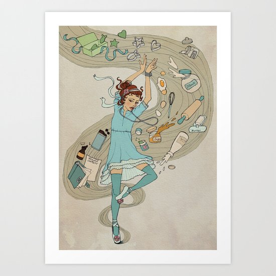 Dance of the Cookie Fairy Art Print