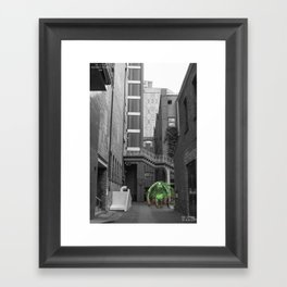 Unseen Monsters of Melbourne - Thorn Framed Art Print