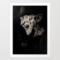 freddy krueger Art Prints featuring Freddy Krueger by Gabriel Fox