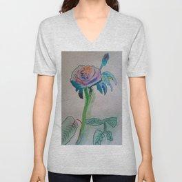 Flower inspiration modern paintings by Christian T. Unisex V-Neck