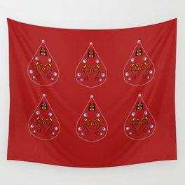 Luxury Paisleys Brown Sugar Wall Tapestry