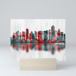 San Diego California Skyline Mini Art Print