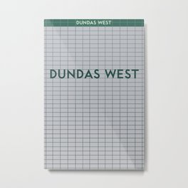 DUNDAS WEST | Subway Station Metal Print