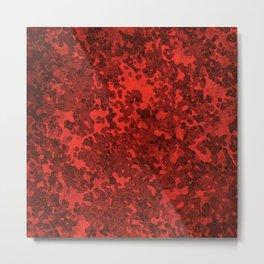 Scarlett Red Hybrid Camo Pattern Design Metal Print