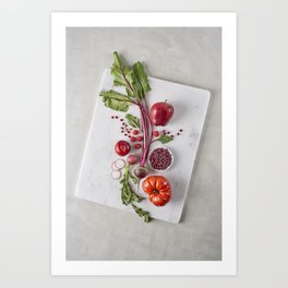Red Organic Fruits and Vegetables Art Print