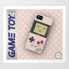 GAMETOY - Pink dot Kawaii         Game Boy, toy, Gameboy Art Print