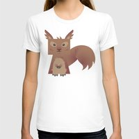 furry T-shirts featuring Furry Squirrel by Yay Paul