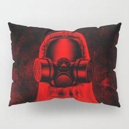 Toxic environment RED / Halftone hazmat dude Pillow Sham