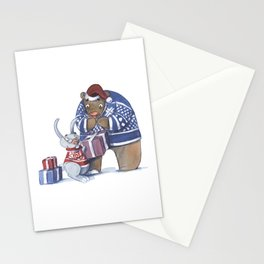 A gift from the rabbit Stationery Cards