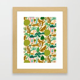 Cheetah Paradise Pattern Framed Art Print