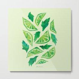 Lime Mojito Metal Print