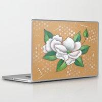 magnolia Laptop & iPad Skins featuring Magnolia by Judy Skowron