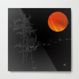 Asian Sunset Metal Print