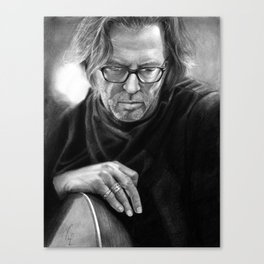 Eric Clapton PENCIL DRAWING Canvas Print