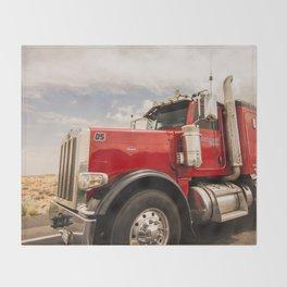 Red truck California Throw Blanket