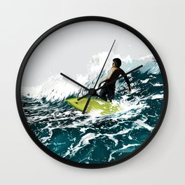 On the Wave Wall Clock