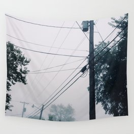Foggy Lines Wall Tapestry