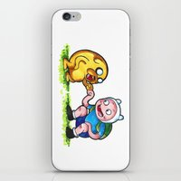finn and jake iPhone & iPod Skins featuring  Finn&Jake  by memo_alatouly
