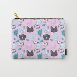 Herb Witch // Pink Carry-All Pouch