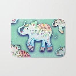 ELEPHANT PARTY MINT Bath Mat