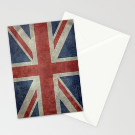 UK Flag, Dark grunge 1:2 scale Stationery Cards