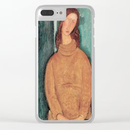 Amedeo Modigliani - Portrait Of Jeanne Hebuterne Clear iPhone Case