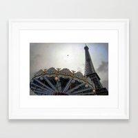 paris Framed Art Prints featuring Paris by zenitt