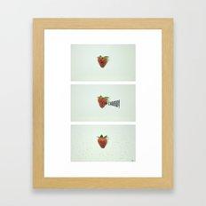 Strawberry Sneeze Framed Art Print