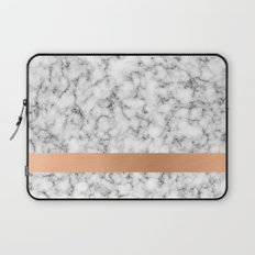Marble and copper Laptop Sleeve