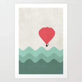 The Hot Air Balloon {The Boring Afternoon Design Series} Art Print