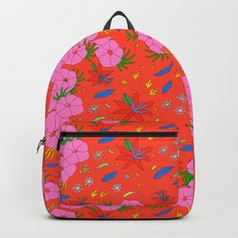 Japanese Floral Pattern Kimono Style Backpack