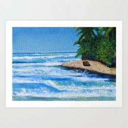 Steps Beach, Rincon P.R. Art Print