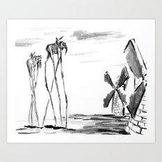 Tilting at Windmills Art Print