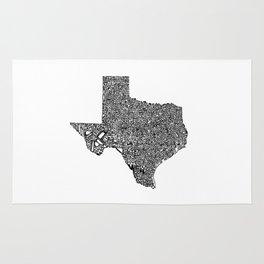 Typographic Texas Rug