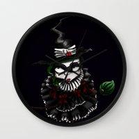 oz Wall Clocks featuring Oz - Green by artlandofme