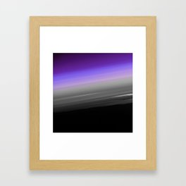 Purple Gray Black Smooth Ombre Framed Art Print