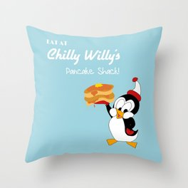 Chilly Willy Throw Pillow