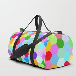 Multicoloured Hexagon Pattern Duffle Bag