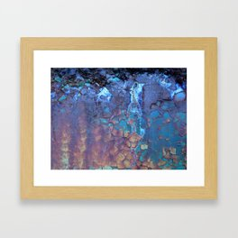 Waterfall. Rustic & crumby paint. Framed Art Print