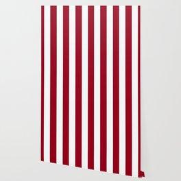 Carmine fuchsia - solid color - white vertical lines pattern Wallpaper